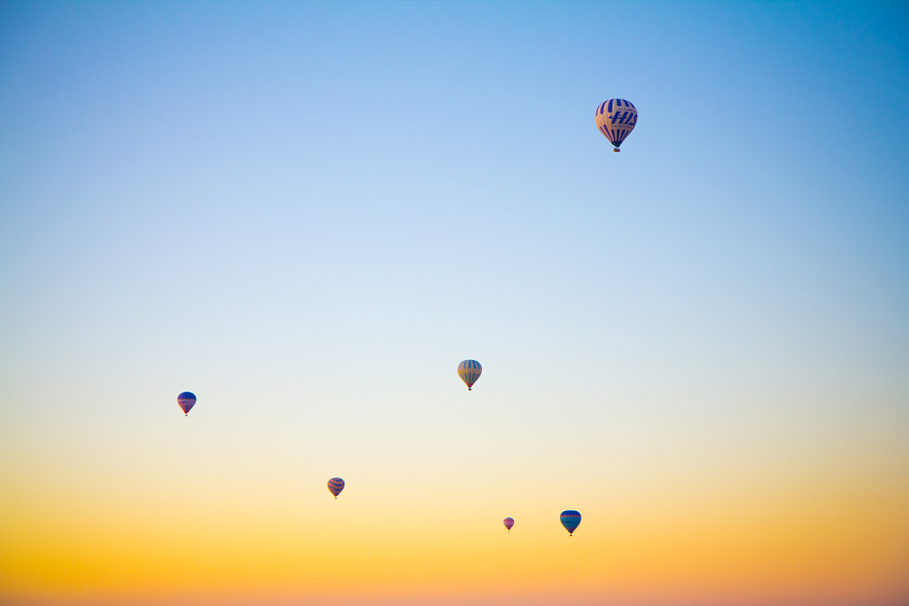 Floating in a morning sky