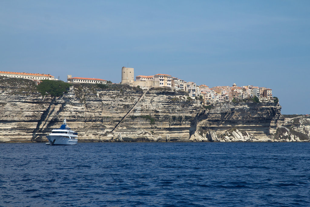 Bonifacio from the sea